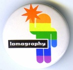 Badge : Lomography, personnage stylisé avec flash(GAD0867)
