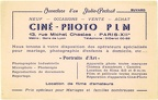 Buvard : Ciné-Photo PLM, Paris