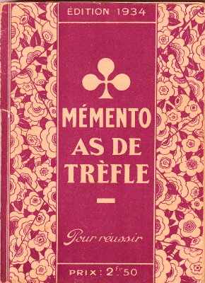Mémento As de Trèfle 1934