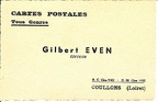 Cartes postales, Gilbert Even éditeur, Coullons