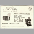 Carte de visite : J. Chotard - 1963(NOT0715)